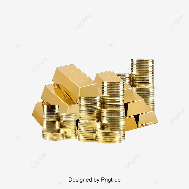 Gold Coins Element Neat Gold Bars Gold Png Image And