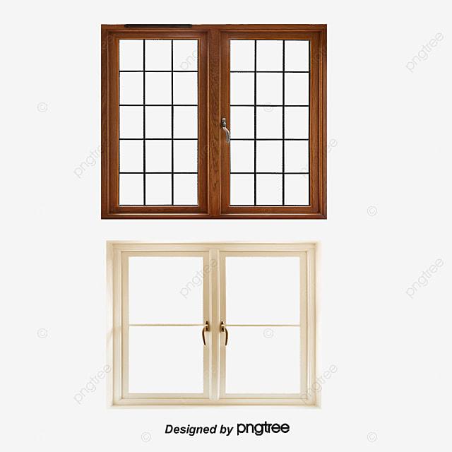 Home Design 3d Para Windows 7: 3d Hand-painted Doors And Windows, Flower Pot, Wood Color