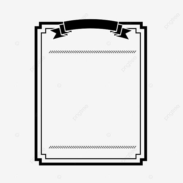 A Moldura Preta Simples Preto Moldura Png Imagem Para