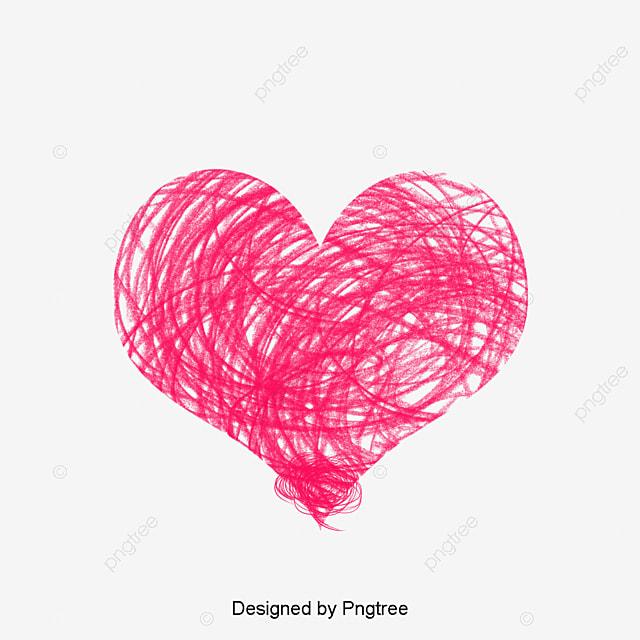 Desenho De Giz EM Forma De Coração Vermelho O Amor