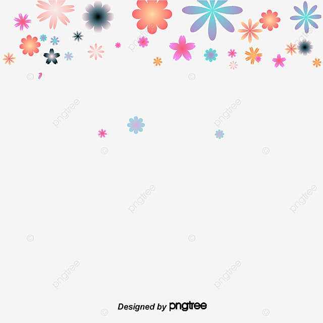 Material De Decoracao Floral De Fundo Transparente Flores Cor De