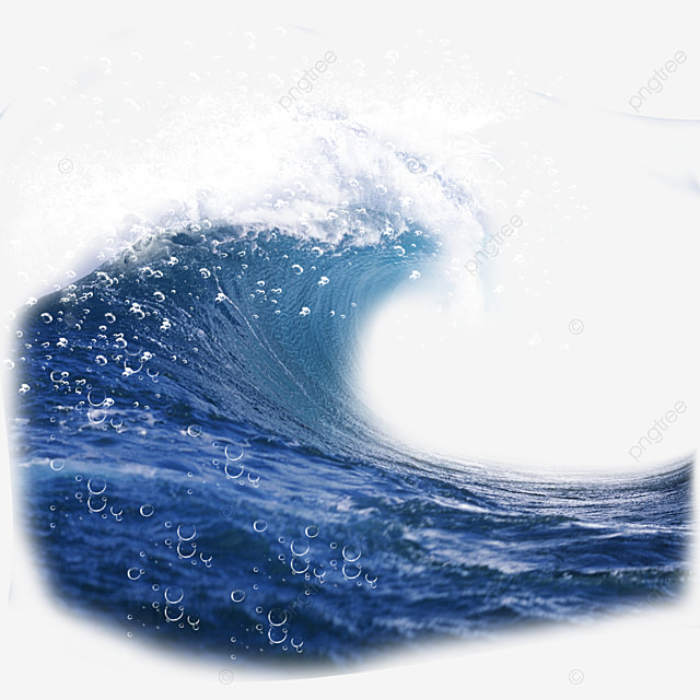blue water wave blue wave water surface png image and clipart