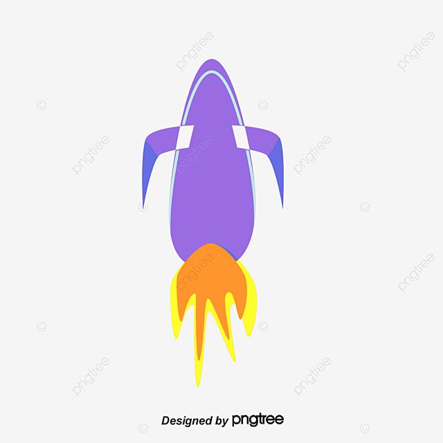 Cohete De Astronauta Y Vintage De Dibujos Animados: Material De Vector De Dibujos Animados De Cohete Cartoon