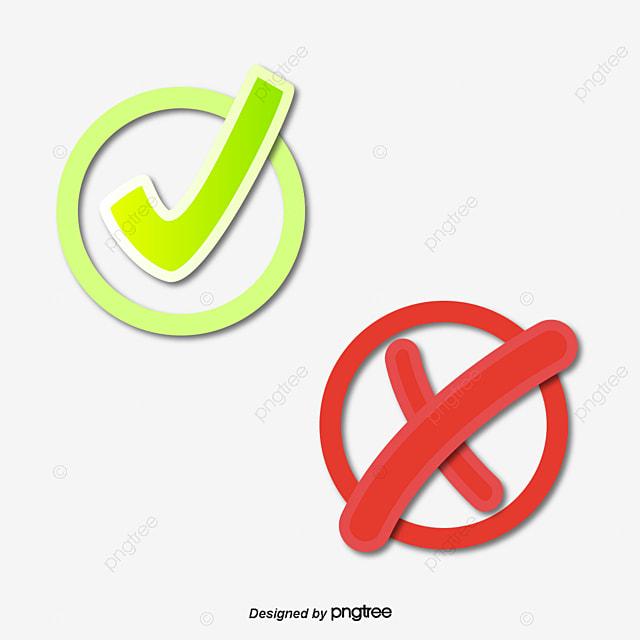Check mark and cross mark error correct icon png image - Cheque caution non rendu ...