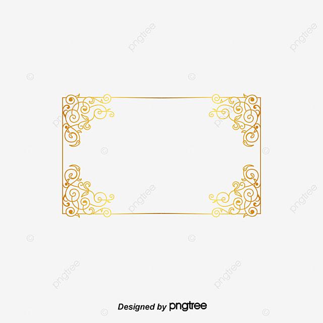 Creative Vector Gold Frame Frame Gold Frame Hand Painted Border