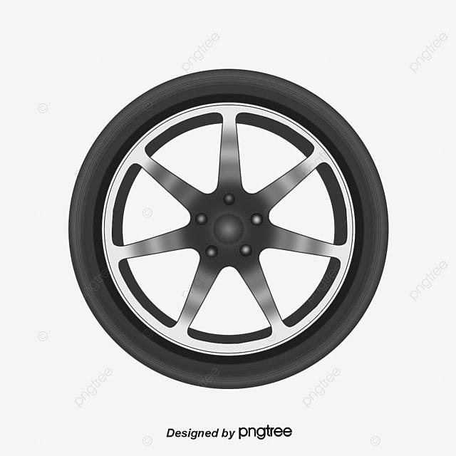 Black Wheels, Black Vector, Black, Cartoon PNG And Vector