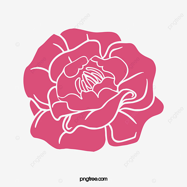 red peony flower pattern vector material free dig vector flowers rh pngtree com pony vector peony victorian tiles