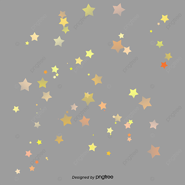 Vector Painted Gold Stars, Gold Vector, Vector, Hand ...