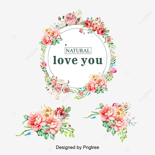 Vector colored bouquet wreath, Wreath, Flower Garlands, Flowers PNG and Vector for Free Download