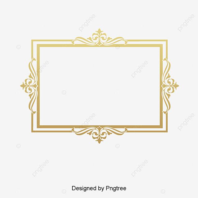 5ec3ecf14c9 Vector Gold Pattern Frame