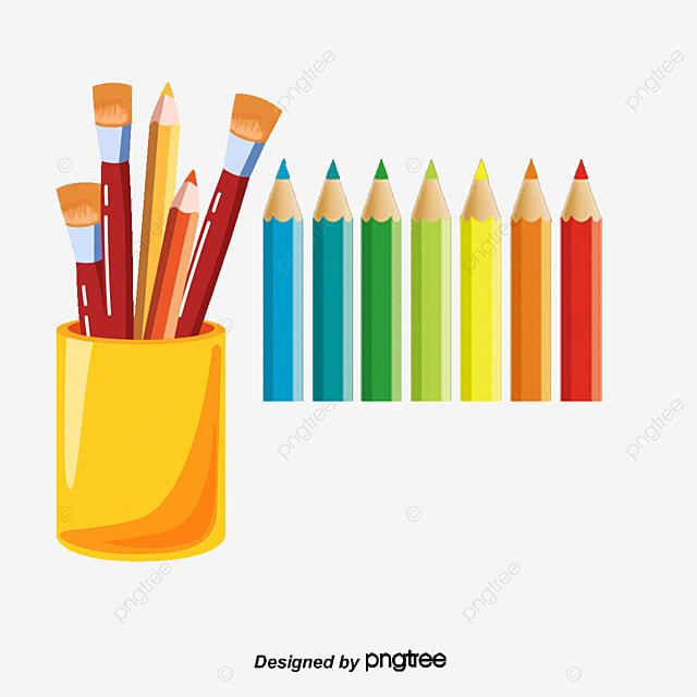 Cartoon Color Pen, Color Clipart, Colored Pencils, Color Pen PNG and ...