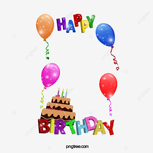 Happy Birthday Frame, Frame Material, Happy, Birthday PNG Image and ...