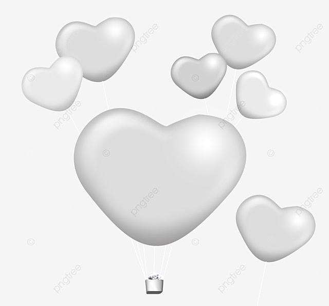 White Heart Shaped Balloon Balloon Clipart Balloon White
