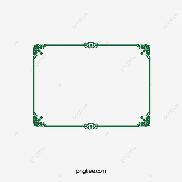 moldura verde estilo europeu estilo europeu de pintura