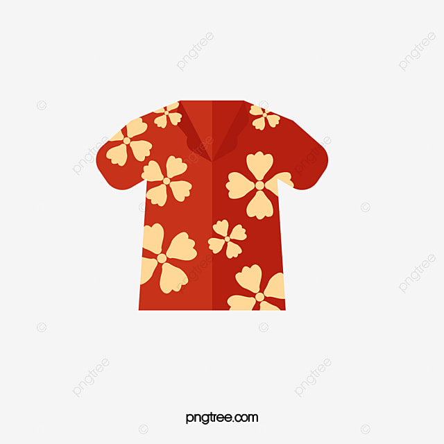Hawaiian Shirt Hand Painted Hawaii Holiday PNG And PSD