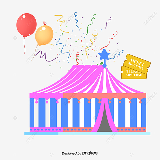 Balloon Circus Tickets Png Vector Material, Tickets