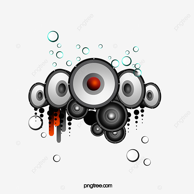 Circle Embellishment Music Speakers Circles Ornament PNG Image And Clipart