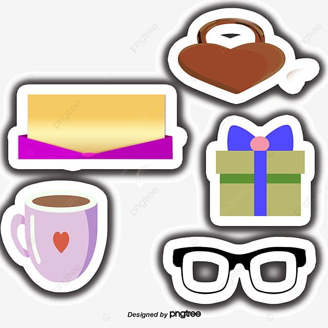 12 cartoon stickers cute stickers bicycle gift png and vector for