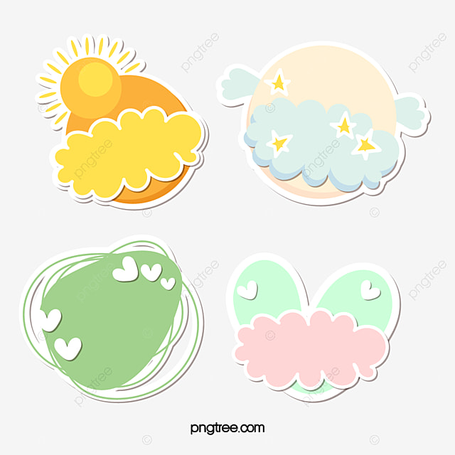 Cute Sticker PNG Images | Vector and PSD Files | Free
