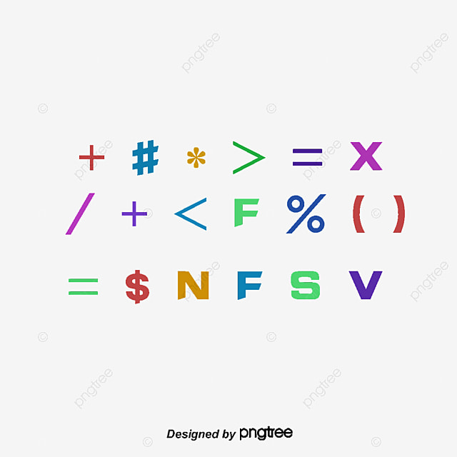Vector mathematical symbols, Mathematics Symbol, Root, Mathematics Teaching PNG and Vector for ...