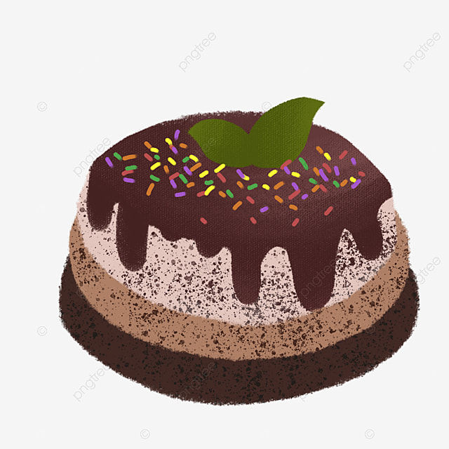 Chocolate Cake Clipart Birthday PNG Image And