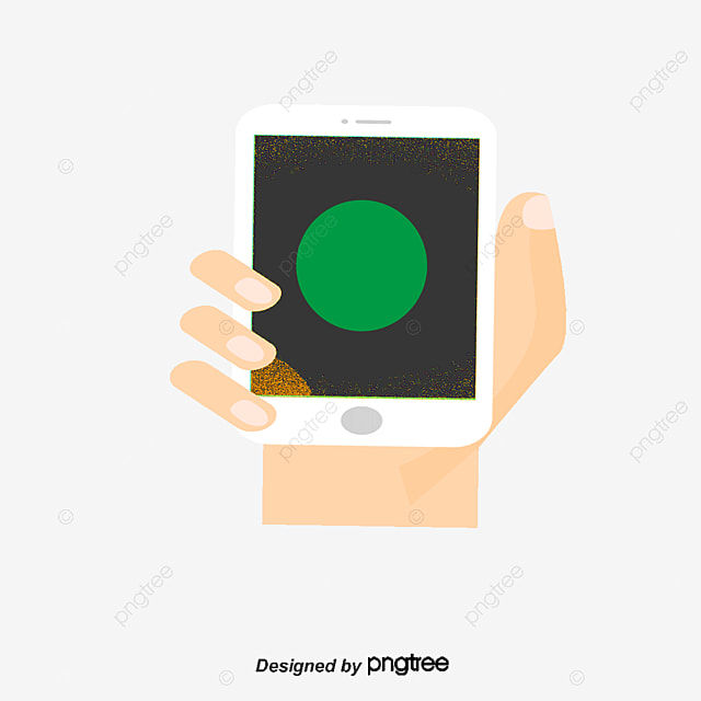 Holding a cell phone, Hand-painted Cartoon, Phone, Phone ...
