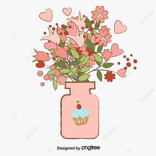 Fig Flower Vase Flower Material Flower Clipart Flowers Vase Png