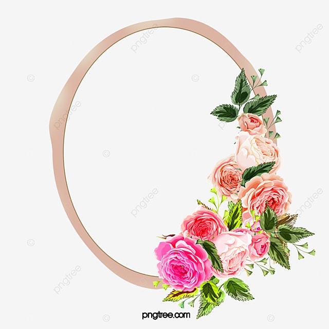 elegante marco de flores pintadas a mano plain jane marco