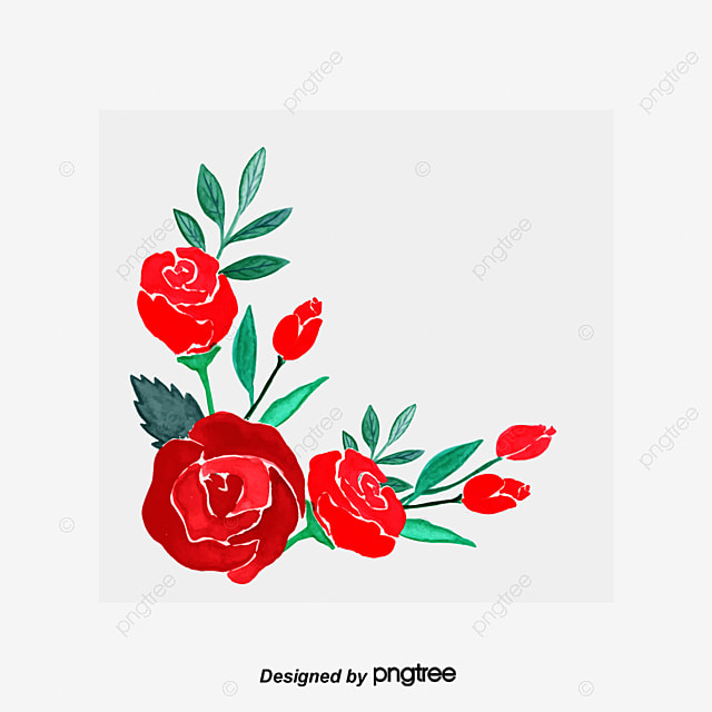Rose Border Rose Clipart Flowers Rose Png Image And Clipart For