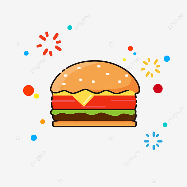 Delicious beef burger, Tomato, Bread PNG Image for Free ...