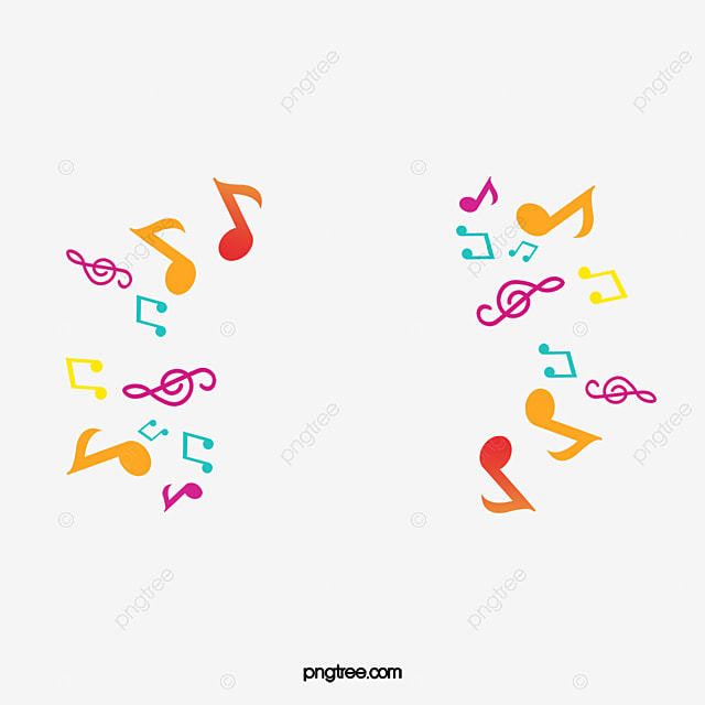 Color Note Music Background Graphics Material Color Clipart Music