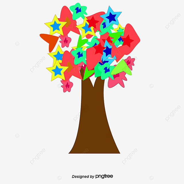 Arboles de colores de vectores color de arboles planta for Arboles plantas y flores