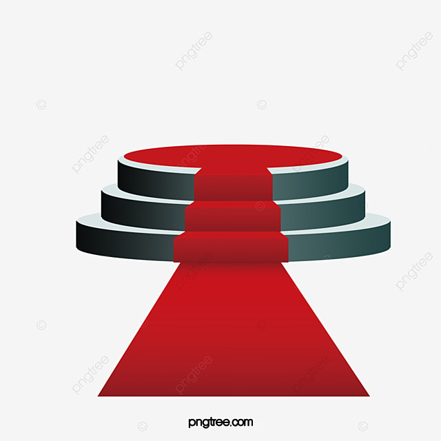Circular Stage Red Carpet PNG And Vector