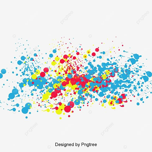 creative splashing color splash ink splash brush png image and