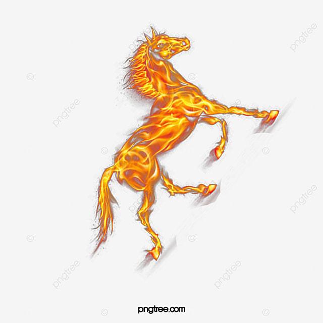 feu ma boucle libre de mat u00e9riau d u00e9coratif cheval un cheval