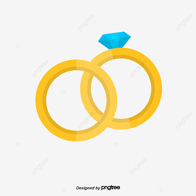 Cartoon Vector Material Diamond Wedding Ring Ring Vector Wedding Ring PNG And Vector For Free