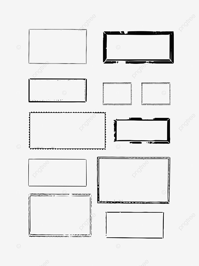 8 Grid Collage Photo Frame, Frame, Collage Frame, Silver PNG Image ...