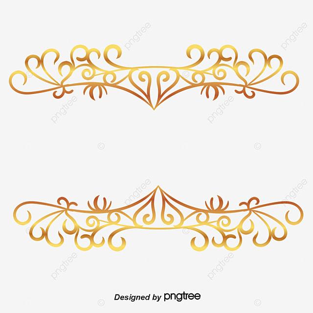 continental gold line border vector vector border vector