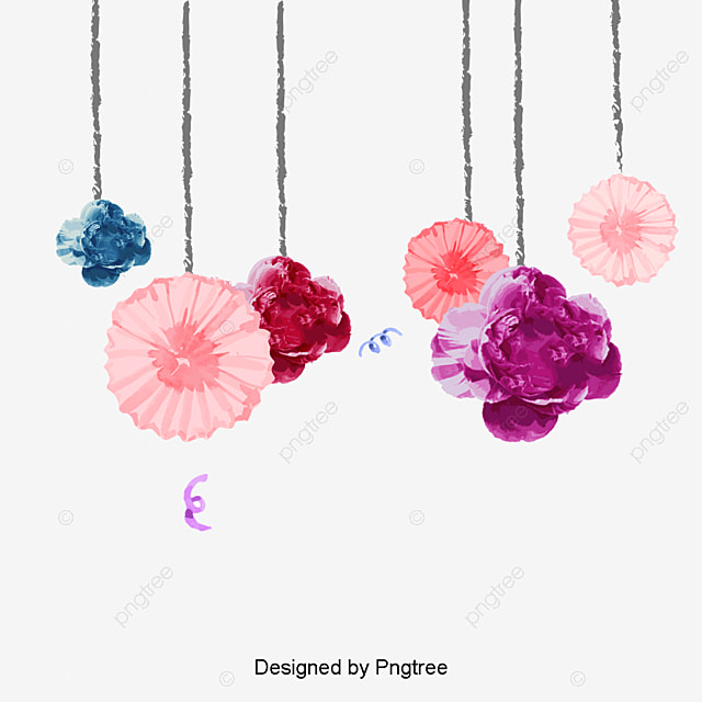 Watercolor Flowers Png Vector Psd And Clipart With: Hand Painted Watercolor Flower Decoration, Decoration