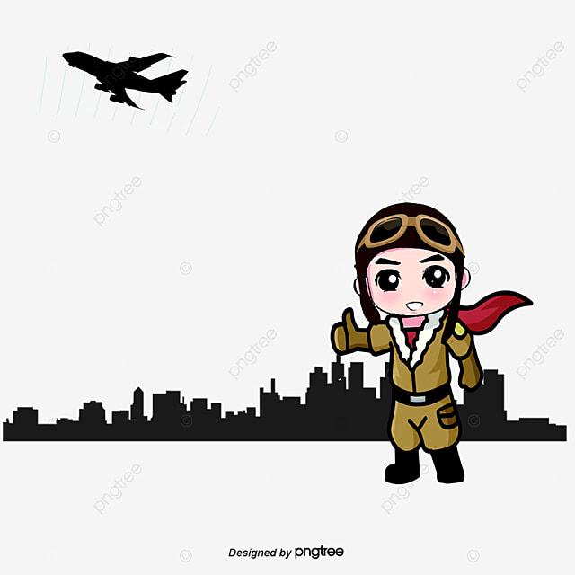 Pilots Flat Career Cartoon Vector Cartoon Vector Pilot