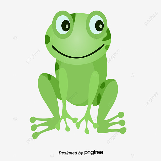 vector frog green lovely frog png and vector for free download rh pngtree com