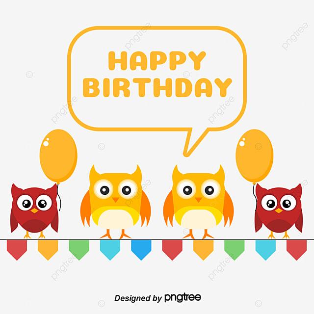 Dibujo Coloreado A Mano Serpentinas Cumpleaños Owl Animales De ...