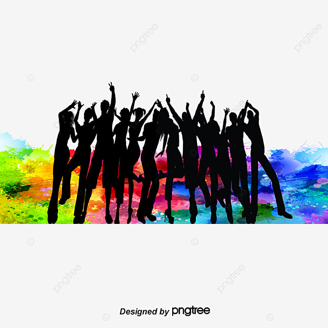 silhouettes of people dancing  people clipart  dancing clip art dancers with harps clip art dancers in dk green