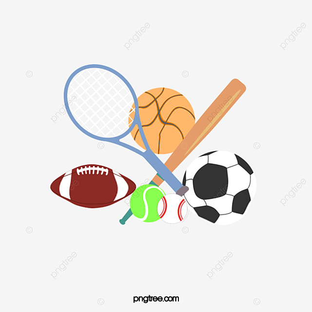 cartoon sports equipment sports clipart cartoon clipart cartoon rh pngtree com sports clipart borders sports clipart black and white