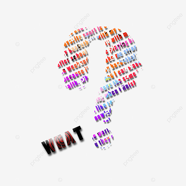 Creative Letters Question Mark Question Clipart English Black