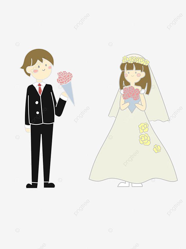 le mariage de personnages de dessins anims gratuit png et vecteur - Dessin Mariage