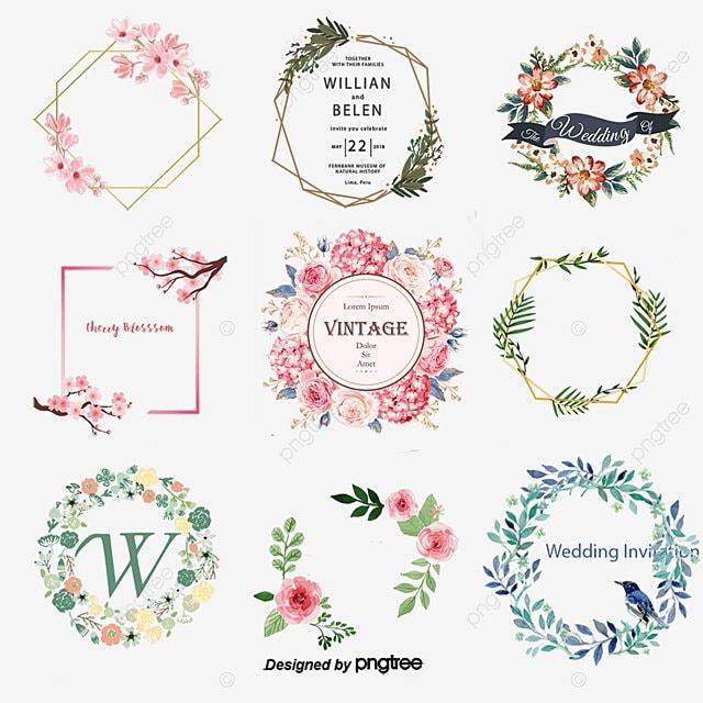 Vintage Wedding Invitations Cover Retro Invitation Label PNG And Vector