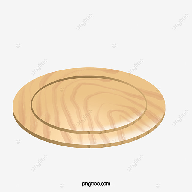 Hd Round Chopping Block Cutting Board Wooden Png Image And Clipart