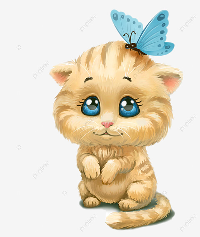 Butterfly Cute Cat Head, Cute Clipart, Cat Clipart, Head ...