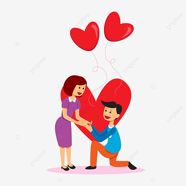 Stick figure marry propose boy girl png image and - Boy propose girl with rose image ...